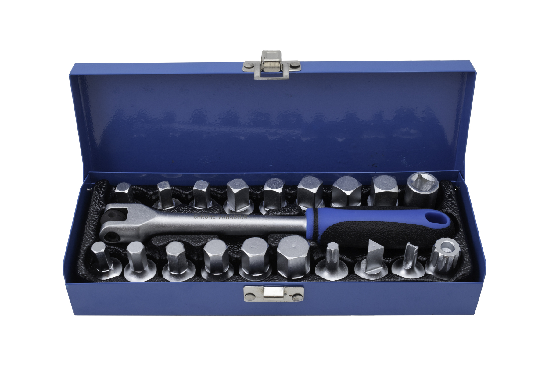 Zástrčné klíče na zátky olejových van, sada 20 kusů - QUATROS QS60019B