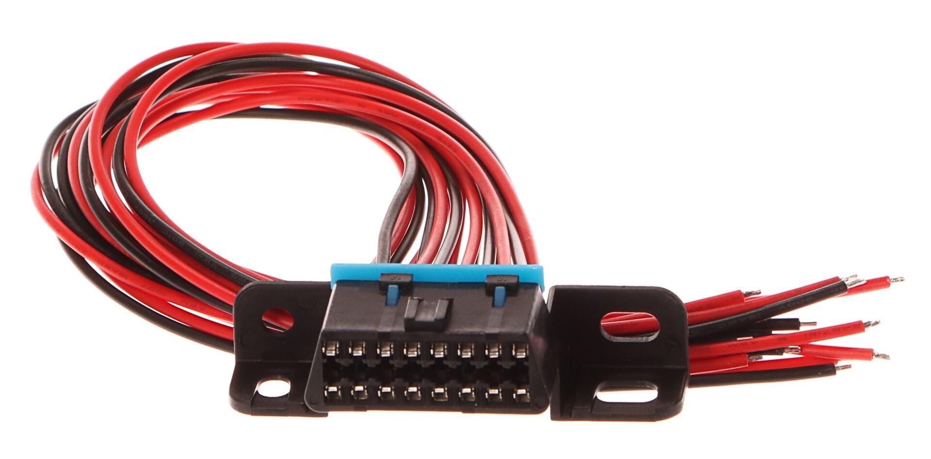 Zásuvka OBD2 s 16 piny, s 30 cm propojovacími kabely - SIXTOL
