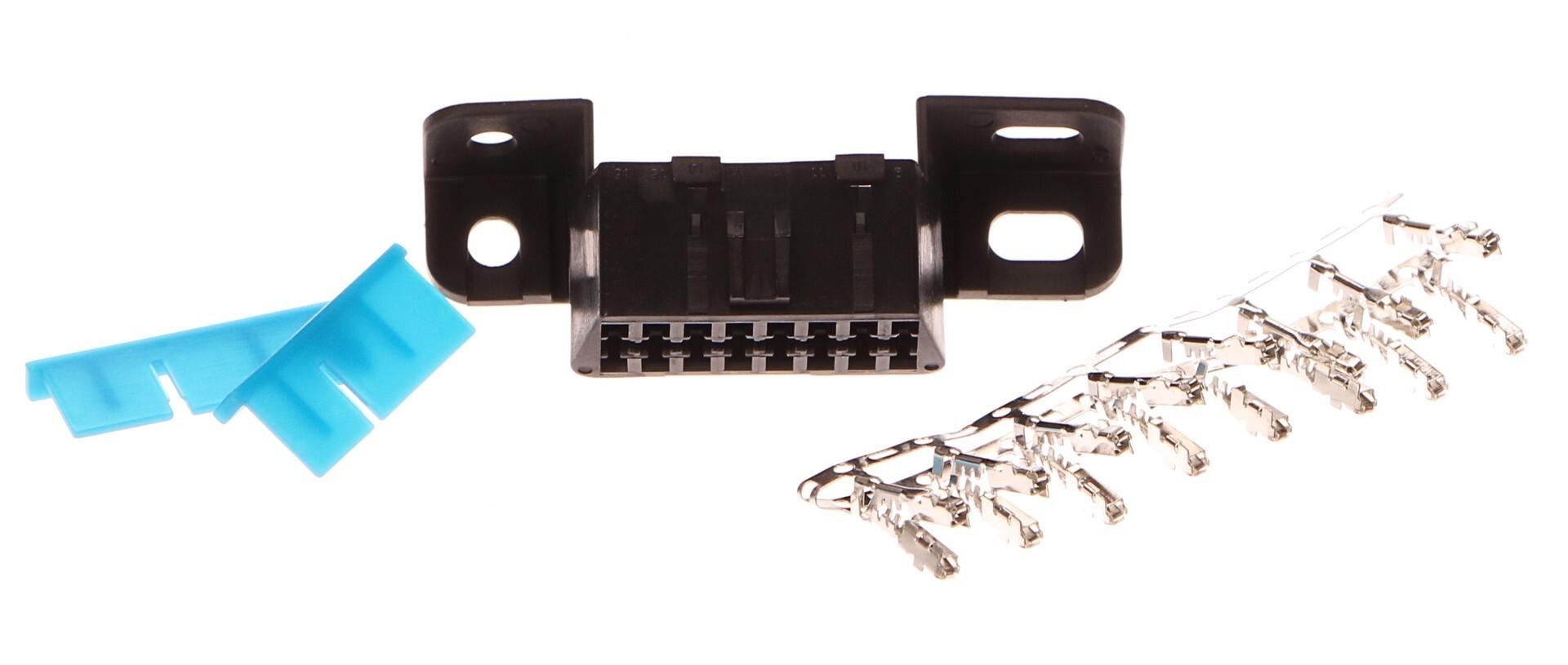 Zásuvka OBD2 - samička bez zapojených pinů, 16 volných pinů - SIXTOL