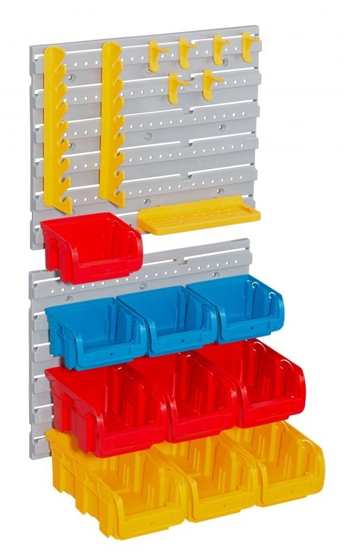 Závěsná stěna plastová, s držáky a boxy, sada 20 kusů Allit ProfiPlus Set P 20