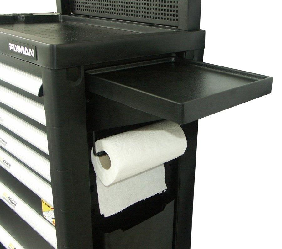 Závěsný boční stolek k dílenskému vozíku, 310 x 310 x 126 mm - Fixman