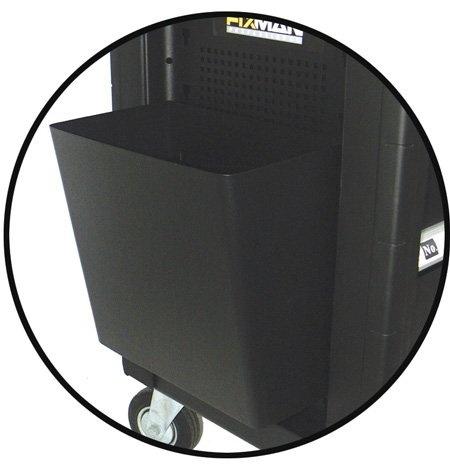 Závěsný odpadkový koš k dílenskému vozíku, 300 x 200 x 300 mm - Fixman