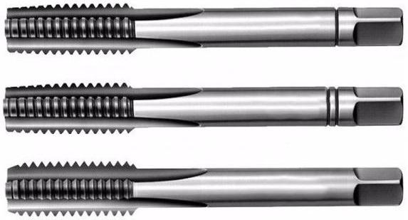 Závitník sadový M12x1,75 NO, levý závit ČSN 22 3010, 3 ks