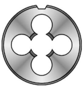 Závitová očka - čelisti HSS, jemný levý závit, DIN EN 22 568, různé rozměry Bučovice Tools