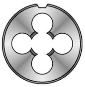 Závitová očka - čelisti HSS, levý závit, DIN EN 22 568, různé rozměry - Bučovice Tools