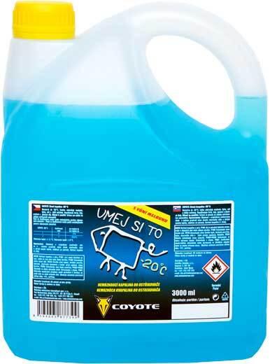 Zimní kapalina do ostřikovačů -20°C, 3 litry - COYOTE