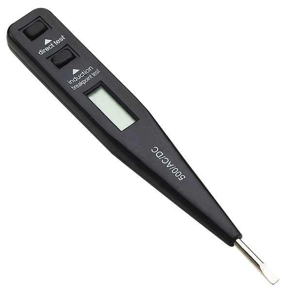 Zkoušečka napětí 12 - 230V, LCD displej
