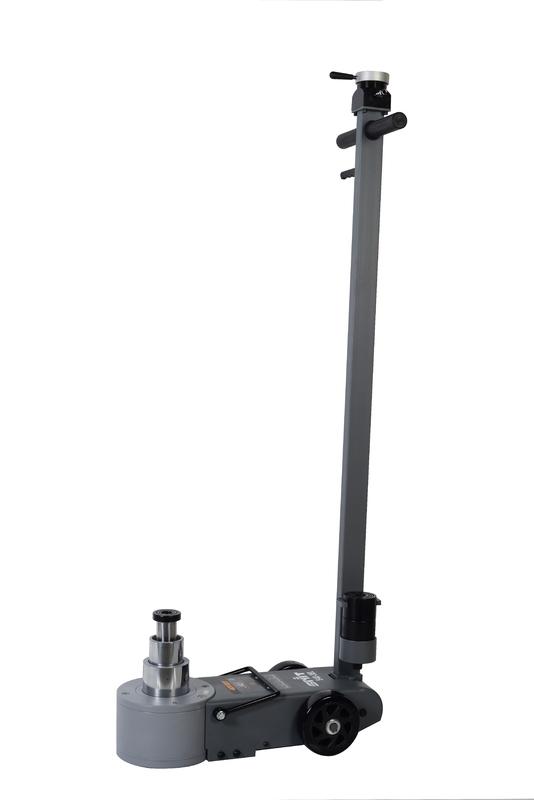 Zvedák pneumaticko-hydraulický S40-3EL,  40/22/10t, pojízdný, dvoupístový