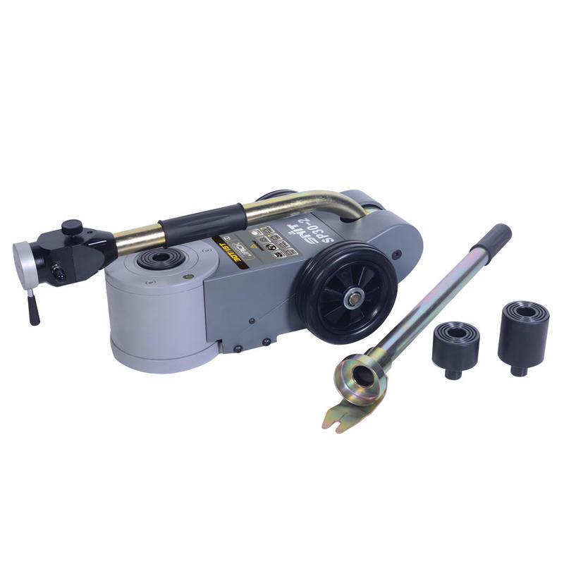 Zvedák pneumaticko-hydraulický SP30-2, 30/15t, pojízdný, dvoupístový se skládací rukojetí