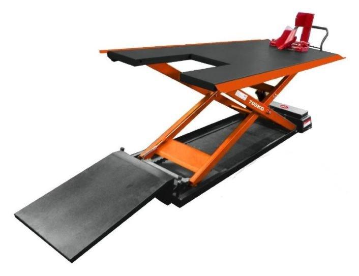 Zvedák nůžkový na motocykly, elektrohydraulický, nosnost 700 kg - LUX 700 EH